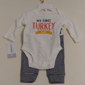 Carter's Newborn My First Turkey Day Outfit